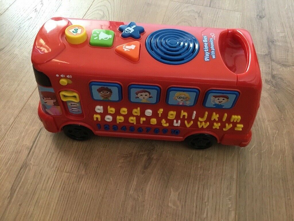Play Time musical toy bus with phonics