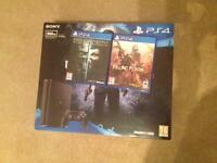 PlayStation 4 slim console 500gb + 2 games immaculate condition boxed
