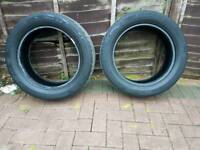 Continental 225/55/R17 Tyres X2