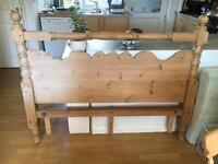 Solid wood kingsize headboard