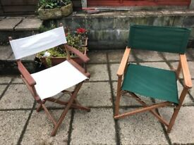 Two solid folding directors garden,outdoor chairs for sale