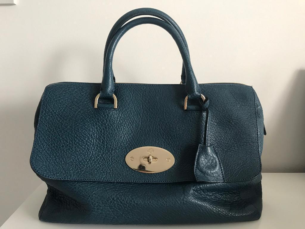 02a301893b Genuine dark teal Del Rey Mulberry handbag