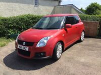 EXCELLENT EXAMPLE OF A SUZUKI SWIFT SPORT 1.6vvt. TINTED WINDOWS, CUSTOM EXHUST,