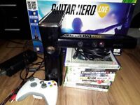 Xbox 360 bundle with Kinect and Guitar Hero