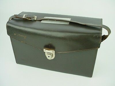 """Leitz New York Top Grain CowHide Leather Carryng Case 13x7x5 """" for screw-mount"""