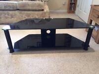 Glass TV Corner Stand