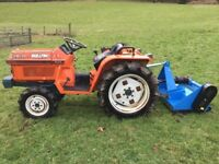 Kubota B1-17 4WD Compact Tractor with New 4ft Flail Mower