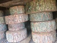 Wooden logs from £10 each