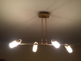 CEILING SPOT LIGHT STRIP GOLD WITH FROSTED GLASS G9