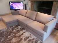Large Fabric Corner Sofa - (Ex Show Home) Excellent Condition!