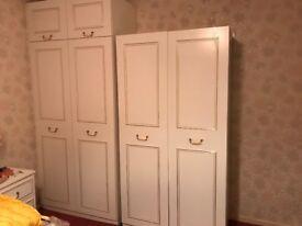 Bedroom furniture: 4 wardrobes, drawers & 2 bedside drawers