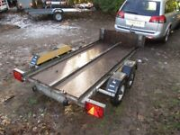 VERY RARE GALVANISED 8X4 FLATBED TWIN AXLE TRAILER 750KG UNBRAKED...