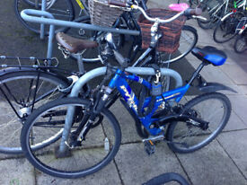 A mountain bicycle in good condition