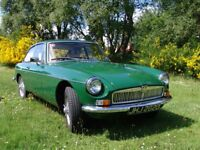 MGB GT 1966 Classic. Full MOT. Early Series 1. Excellent Condition. Dry Stored