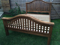 Stunning handmade solid oak king size bed frame, excellent condition