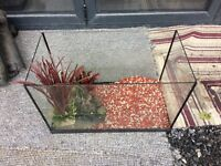 Fish tank 90L with axcessories