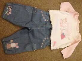 Baby girls outfit. 3-6 months