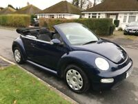 Volkswagen Beetle 1.6 Cabriolet 2dr Low Mileage 1 year MOT FSH Reliable preloved car