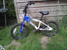 Blue kids BMX bike 16 inch wheel