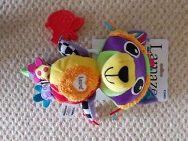 Brand new Lamaze Rylie Racoon clip on pram and pushchair baby toy