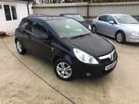 2010 VAUXHALL CORSA 1.2 SXi ENERGY BLACK PETROL 3DR **LOW MILEAGE** FULL SERVICE HISTORY**