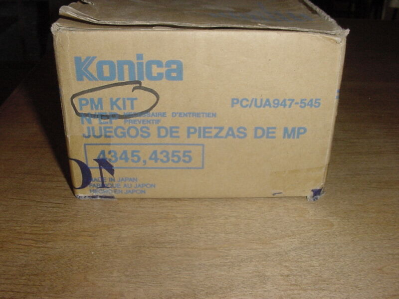 Genuine Original Konica 4345 4355 PM Kit PC/UA947-545 947-545 NIB