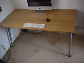 Ikea Galant Desk in Oak veneer with height adjustable legs