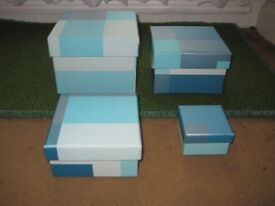 Nest of 4 Gift or Jewellery Boxes