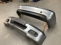 BMW E46 3 series Saloon Touring M Sport Grey Front and Rear Drift Track Bumpers - damage etc