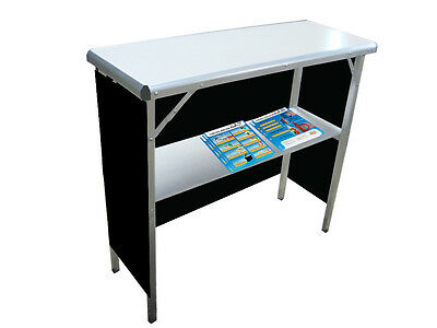 Trade Show Promotional Demo Counter - Pop Up - Unbranded Black Skirt Included