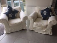 Comfortable Armchairs / Free Cushions / Ex-showhome good quality.