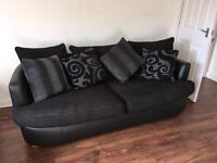 Sofa, cuddle chairs and footstool