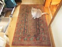 WOOL SHABBY CHIC RUG MUTED COLOURS
