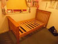 Single bed. Solid wood with mattress.