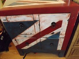 Shabby Chic Designer Union Jack Drawers