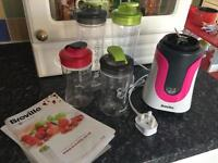 Breville Active Blend and 3 travel cups with lids