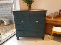 Beautiful Victorian Shabby Chic Chest of Drawers