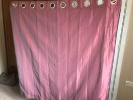 1 pair of Pink Curtains