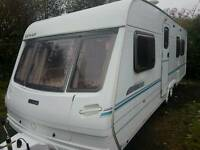Lunar lexon 649 eb 2001 4 berth Touring caravan cassette toilet fixed island bed