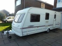 2003 Lunar Clubman 4 berth caravan with full awning