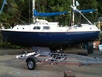 westerly pentland 9.3m for sale moored valencia £14000.00 ono many extras tel 07456773474