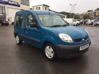 2005 WHEELCHAIR ACCESS RENAULT KANGOO DISABLED RAMP 42,000 MILES NEW MOT £1995 O-N-O