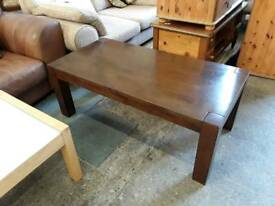 Solid Hardwood Dark Brown Coffee Table