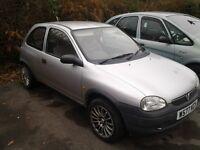 vauxhall corsa envoy 1.0 12v 3 door hatchback 2000 w reg long mot 70k 2 owners from new bargin £ 349