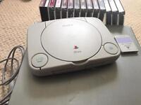 Ps1 with selection of games