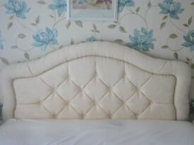 Cream Upholstered Headboard for Double Bed