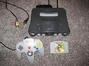 NINTENDO 64 N64 SYSTEM + DIDDY KONG RACING 100% TESTED AND WORKING