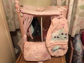 Baby Annabelle Dolls Changing unit, including changing bag and sleeping bag