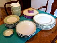 China Dinner Service - Denby 'Monsoon Daisy' dinner set - excellent condition - 8 settings