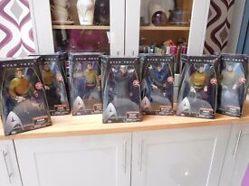 Star Trek command series set of 8 new boxed 12 inch figures